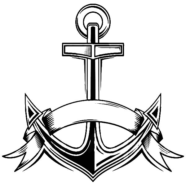 Anchor, : Navy Anchor Coloring Pages