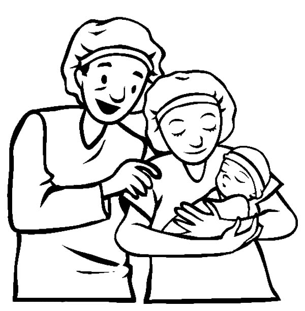 Babies, : Newborn Babies Coloring Pages