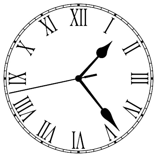 Analog Clock, : Old Fashioned Analog Clock Coloring Pages