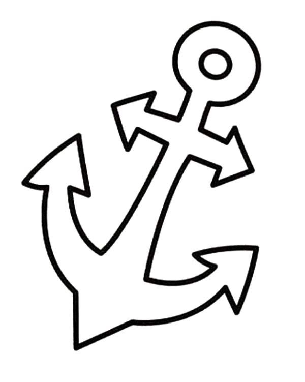 Anchor, : Preschooler Kids Anchor Coloring Pages