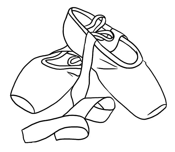Ballerina Shoes, : Princess Ballerina Shoes Coloring Pages