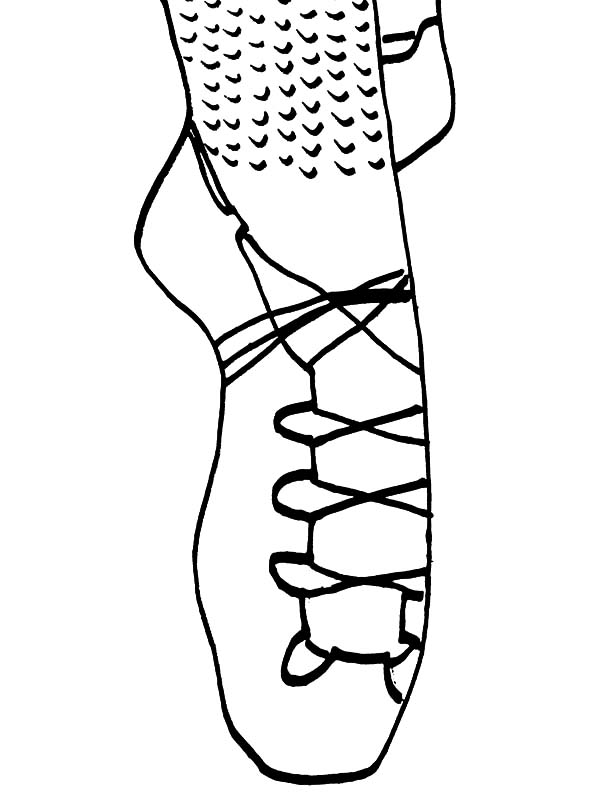 Ballerina Shoes, : Pumps Ballerina Shoes Coloring Pages