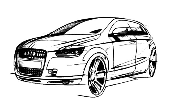 Audi Cars, : Q5 Audi Cars Coloring Pages