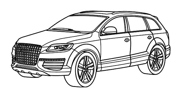 Audi Cars, : Q7 Audi Cars Coloring Pages