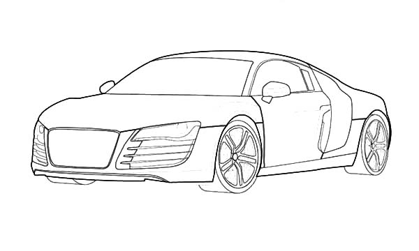 Audi Cars, : R8 Audi Cars Coloring Pages