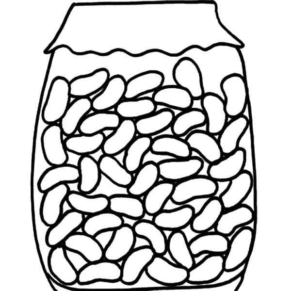 Jar, : Red Beans in Jar Coloring Pages