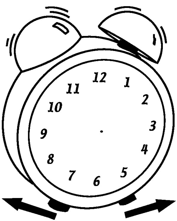 Analog Clock, : Replace You Old Watch with Analog Clock Coloring Pages