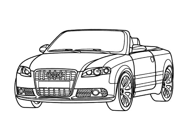 Audi Cars, : S4 Cabriole Audi Cars Coloring Pages