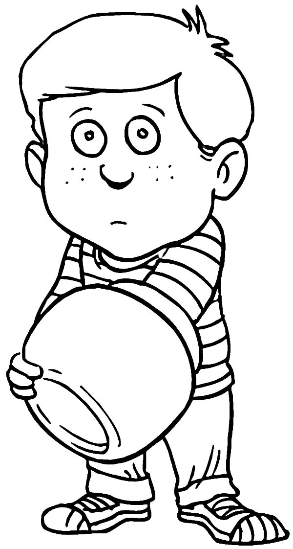 Jar, : Sad Boy with Empty Cooki Jar Coloring Pages