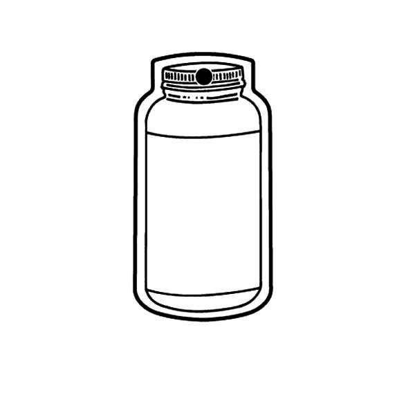 Jar, : Salt Jar Coloring Pages