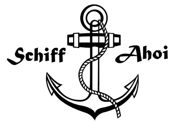 Anchor, : Schiff Ahoi Anchor Coloring Pages