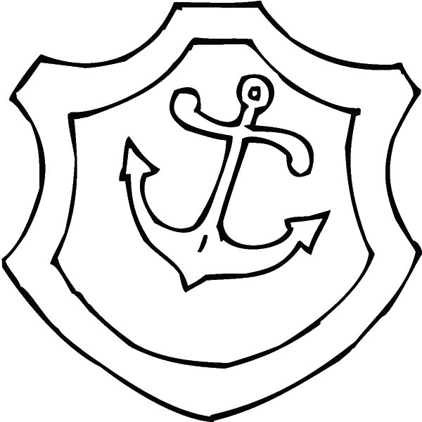 Anchor, : Shield with Anchor Picture Coloring Pages