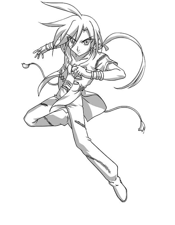 Bakug, : Shun Ninja Attacking Bakug Bakugan Coloring Pages