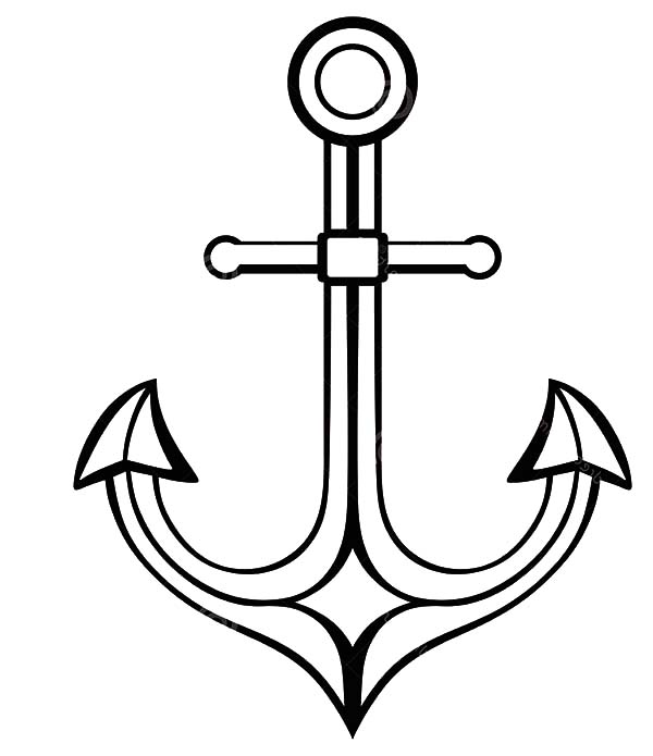 Anchor, : Silhouette Anchor Coloring Pages
