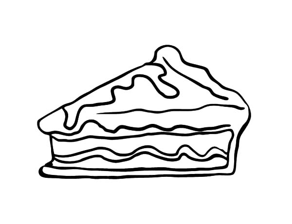 Apple Pie, : Slice Apple Pie Cake Coloring Pages