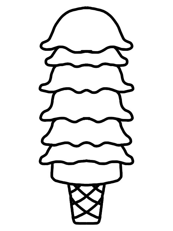 Ice Cream Cone, : So Many Level Ice Cream Cone Coloring Pages