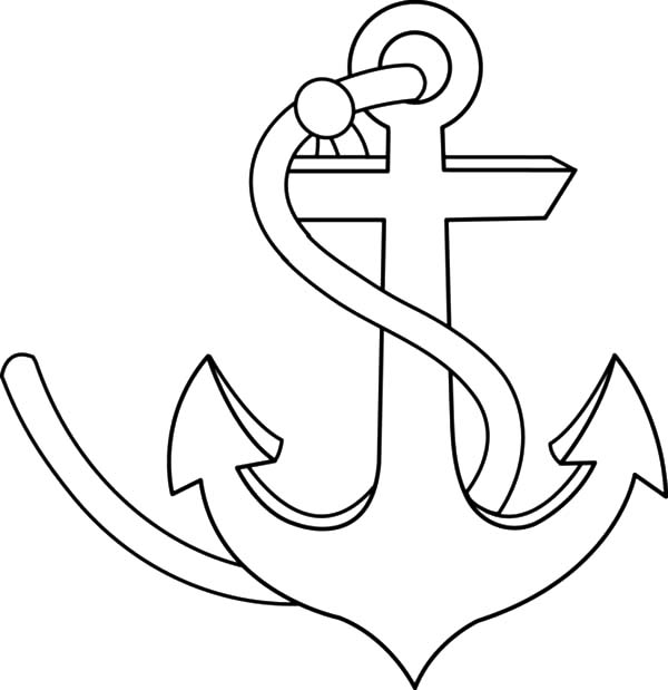Anchor, : Strong Anchor Coloring Pages