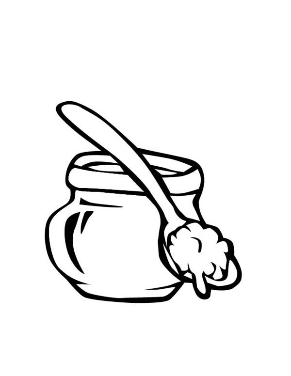 Jar, : Sweet Honey Jar Coloring Pages