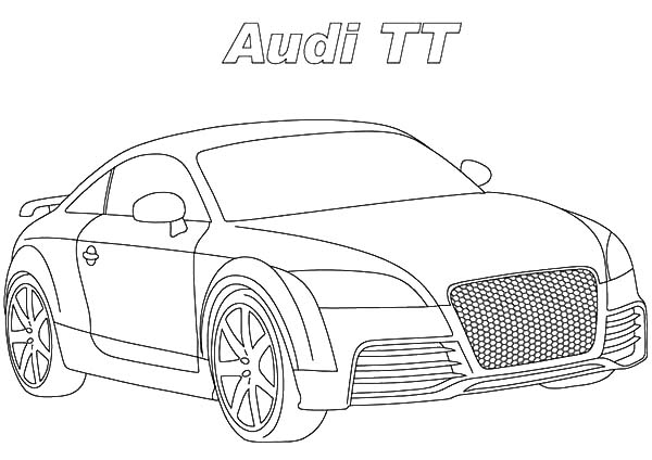 Audi Cars, : TT Audi Cars Coloring Pages