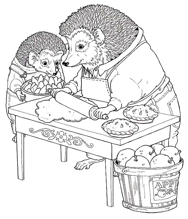 Apple Pie, : Thanksgiving Apple Pie Coloring Pages