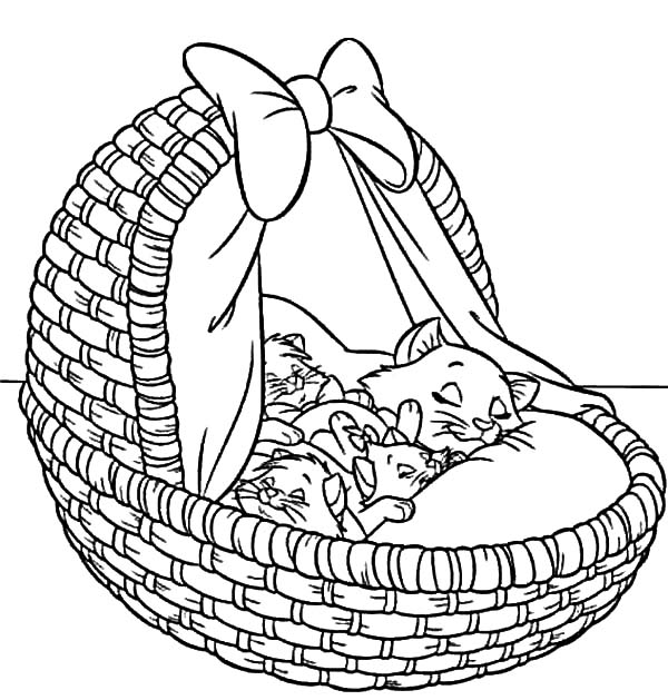 Aristocats, : The Aristocats Take a Nap Coloring Pages