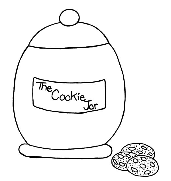Jar, : The Cookie Jar Coloring Pages