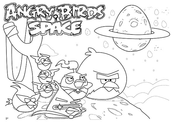 Angry Bird Space, : The Famouse Angry Bird Space Coloring Pages