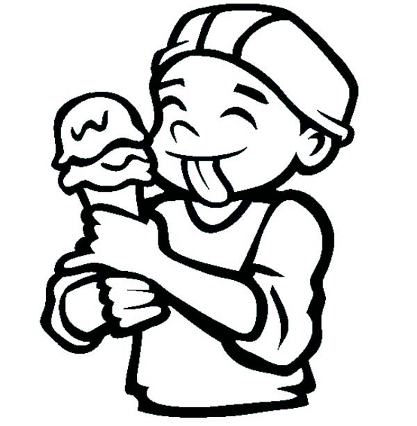 Ice Cream Cone, : The Ice Cream Cone Coloring Pages