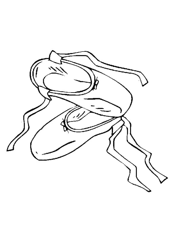 Used Ballerina Shoes Coloring Pages