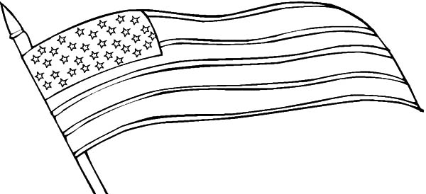 American Revolution Flag, : Waving American Revolution Flag Coloring Pages