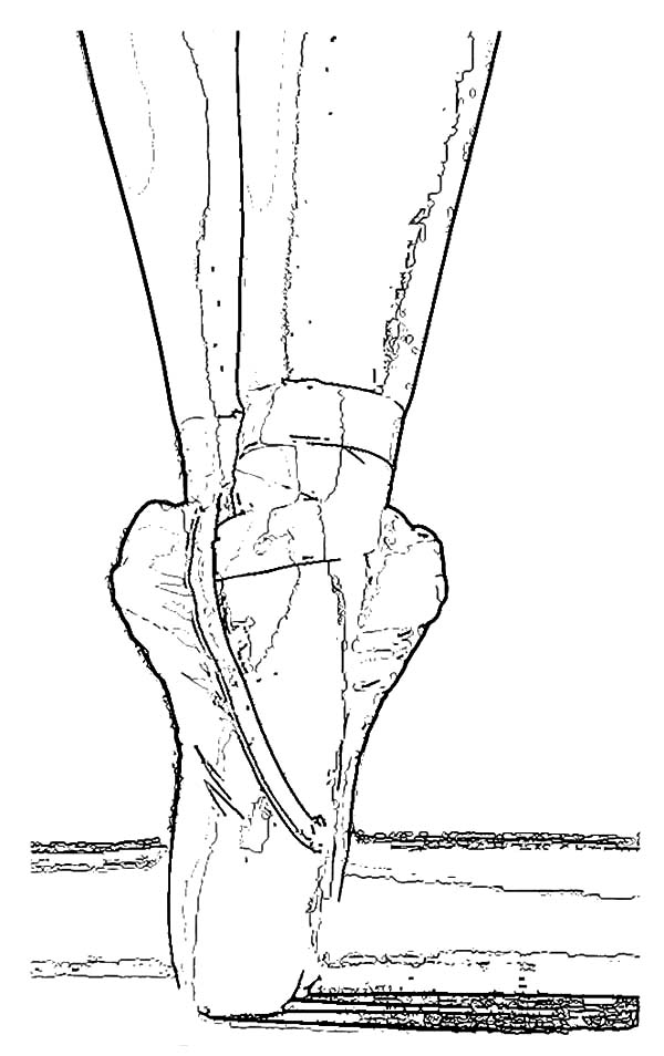 Ballerina Shoes, : Wearing Ballerina Shoes Coloring Pages