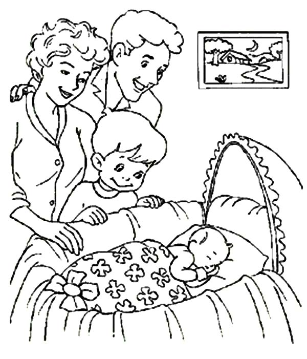 Babies, : Welcoming New Member of Family Babies Coloring Pages