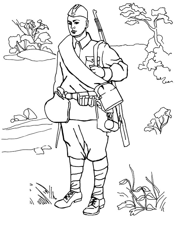 Army, : Young Army Man Coloring Pages