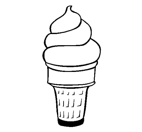 Ice Cream Cone, : Yummy Ice Cream Cone Coloring Pages